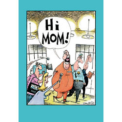 Hi Mom Funny Mother's Day Greeting Card