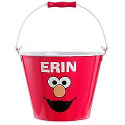 Personalized Elmo Face Sesame Street Tin Pail