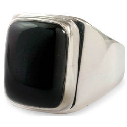 Men's Art of Life Black Jade Ring