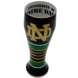 Notre Dame Artisan Hand Painted Pilsner Glass