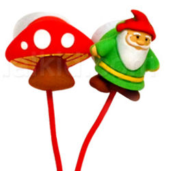 Gnome and Mushroom Earbuds