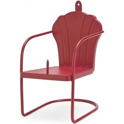 Red Retro Lawn Chair Squirrel Feeder