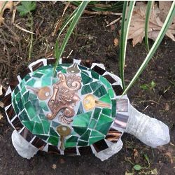Mosaic Tile Turtle Garden Ornament