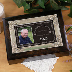 Custom Photo In Loving Memory Music Box