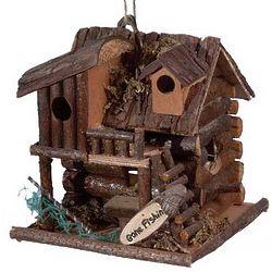 Gone Fishin' Wood Birdhouse