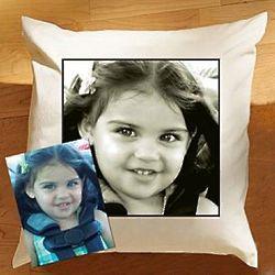 Custom Photo Accent Pillow with Plain Border