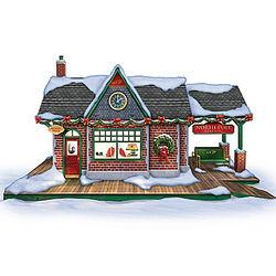 Santa's Train Workshop Christmas Sculpture
