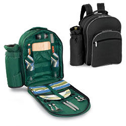 Aspen Insulated Picnic Backpack Deluxe Service for 2