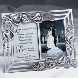 Love is Patient Personalized Wedding Frame