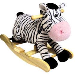 Zany Zebra Toddler Rocker with Sound