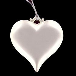 Personalized Silver Heart Ornament