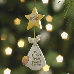 Jesus The Gift That Changed the World Ornaments