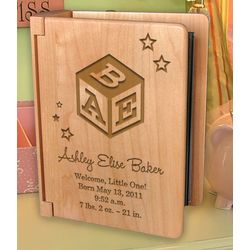 Personalized Baby's Monogram Wooden Photo Album