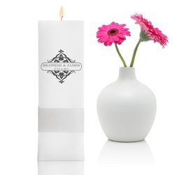 Personalized Classic Charm Square Pillar Unity Candle