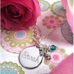 First Holy Communion Engraved Necklace