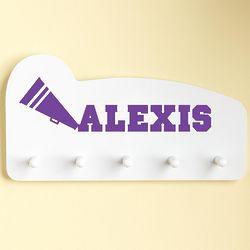 Purple Personalized Sports Wall Peg Rack