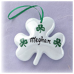Personalized Puffed Shamrock Ornament