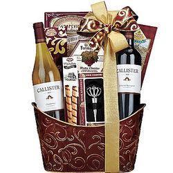 Double Delight Wine Gift Basket