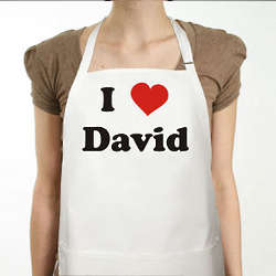 I Love You Personalized Apron