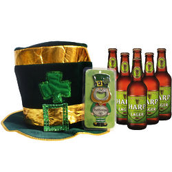 Top of the Morning Irish Beer and Hat Gift Set