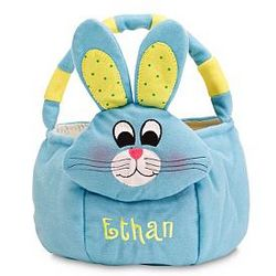 Blue Bunny Personalized Plush Easter Basket