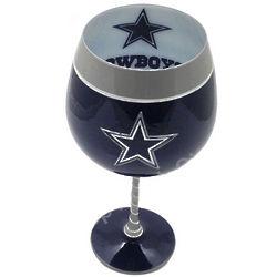 Dallas Cowboys Artisan Hand Painted Wine Glass