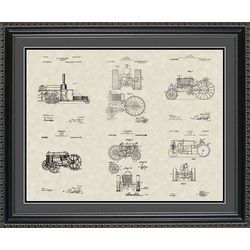 Tractors Patent Art Wall Hanging