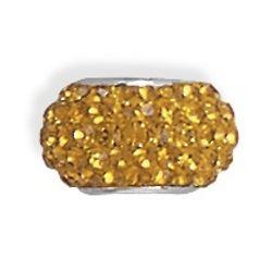 Dash of Yellow Crystal Charm