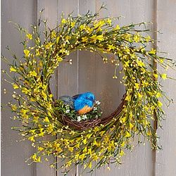 "22"" Blooming Buttercup Faux Wreath"
