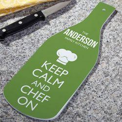 Keep Calm and Chef Custom Cutting Board