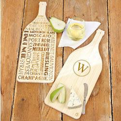 Reversible Wine Serving Board