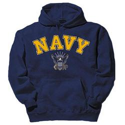 Navy Eagle Navy Blue Hooded Sweatshirt