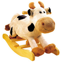 Carlton the Cow Toddler Rocker with Sound
