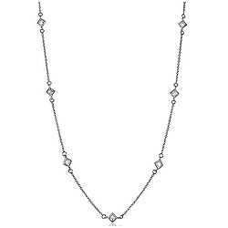 CZ by the Yard Necklace Chain in Sterling Silver