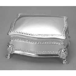 Engraved Silver Plated Figaro Jewelry Box