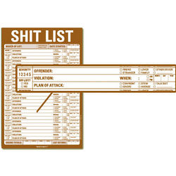 Sh*t List Notepad