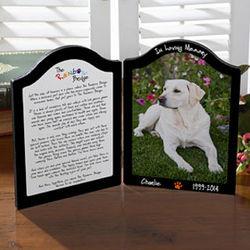 Rainbow Bridge Personalized Pet Memorial Photo Plaque