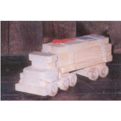 Wooden Truck with Lumber
