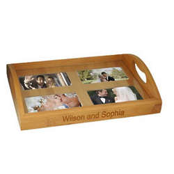 Personalized Bamboo Family and Friends Photo Tray