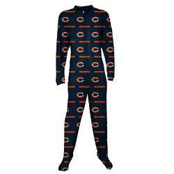 Chicago Bears Adult Footie Pajama