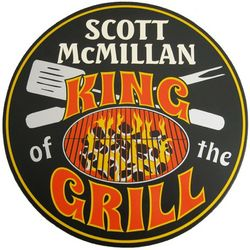 King of the Grill Custom Wood Sign