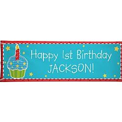 Personalized Oversized Cupcake Birthday Banner