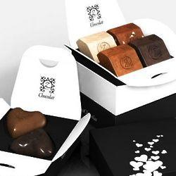 zBox 6 Chocolate Kiss French Chocolates Gift Box