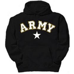 Army Star Hooded Pullover Sweatshirt