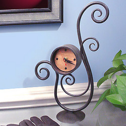 Scrolling Iron Table Clock