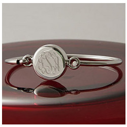Personalized Round Bangle