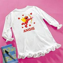 Personalized Cupid Elmo Nightgown