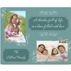 Home Filled with Love Custom Photo Glass Cutting Board