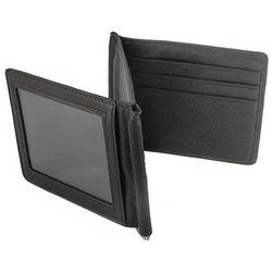 Cashmere Leather Black Double Money Clip