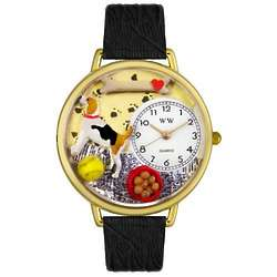 Beagle Personalized Watch with Black Leather Band